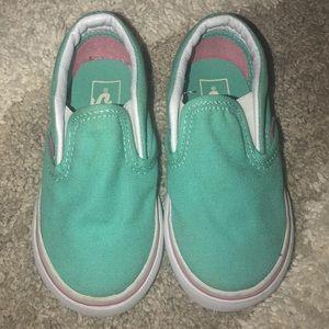 Toddler Vans mint green